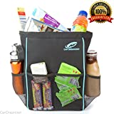 Car Trash Can & Car Organizer, Leakproof, Waterproof, Odor Proof, Sturdy Fabric, Mesh Pockets, Insulated Lining, Perfect Size Car Cooler and Auto Trash Can, Best Car Garbage Can with 30 Bonus Liners