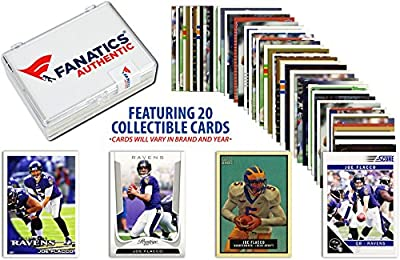 Joe Flacco-Baltimore Ravens- Collectible Lot of 20 NFL Trading Cards - Fanatics Authentic Certified - Football Player Sets