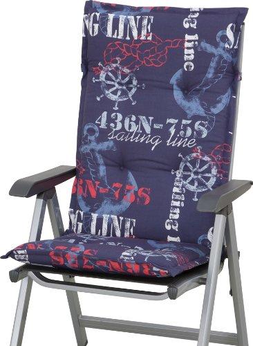 Sun Garden 10150018 Auflage Dessin 40227-100 Naxos für Sessel hoch, 100% Baumwolle-Halbpanama, L 118 x B 49 x H 6 cm online bestellen
