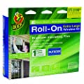 Duck Brand 281070 Roll-On Outdoor Extra Large Single Window Premium Insulating Film Kit, 84-Inch by 112-Inch
