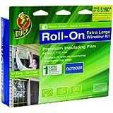 Duck Brand 281070 Roll-On Outdoor Extra Large Window/Patio Door Premium Insulating Film Kit, 84-Inch x 112-Inch