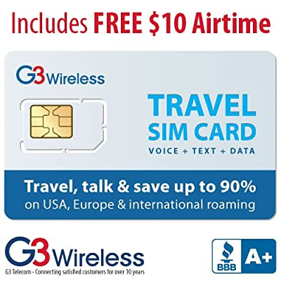 Prepaid Travel SIM Card - Works in 70+ Countries Using Vodafone, T-mobile, Orange, Digicel, Movistar, O2 Networks, Plus Many More!