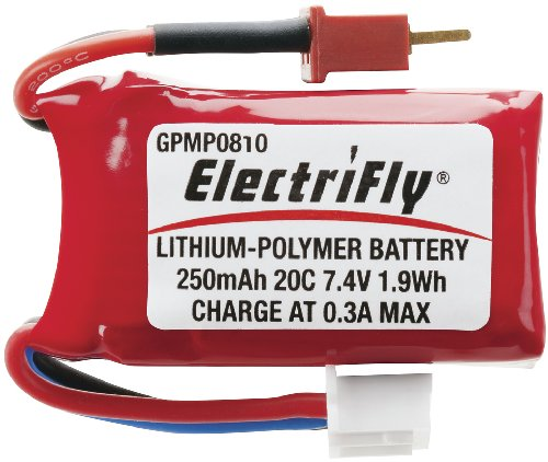 Great Planes LiPo 2S 7.4V 250mAh 20C ElectriFly