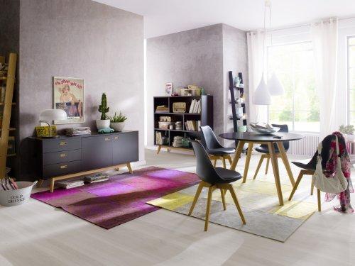 tenzo 2181 001 bess designer esstisch rund wei tischplatte mdf lackiert matt untergestell. Black Bedroom Furniture Sets. Home Design Ideas