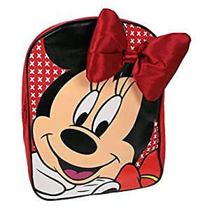Official Disney Minnie Mouse Backpack with 3D Red Bow - School Bag