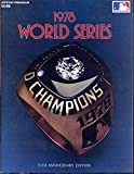 1978 World Series Program Los Angeles Dodgers New York Yankees Baseball Game Vs.