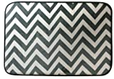 Northpoint Ruya Printed Velvet Memory Foam Bath Rug, 17 by 24-Inch, Chevron