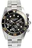 [マスターウォッチ] MASTER WATCH ダイバーズウォッチ 20気圧防水 腕時計 プロフェッショナルクロノグラフ 回転ベゼル メンズ