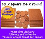 12x square & 24x round self adhesive...
