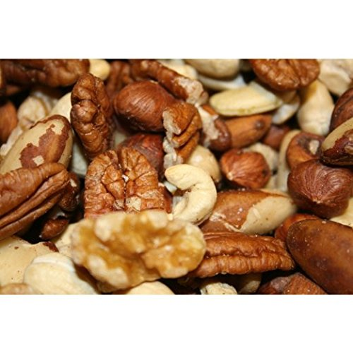 Raw Deluxe Mixed Nuts (1 Pound Bag) Pecans, Walnuts, Almonds, Cashews, Brazil Nuts, Hazel Nuts (Mixed Raw Nuts compare prices)