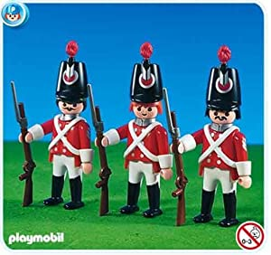 Amazon.com: Playmobil Red Coat Soldiers (3): Toys & Games
