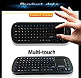 iPazzPort Wireless Mini Handheld Keyboard with Touchpad Mouse Combo for Android TV Box and Raspberry Pi 3 and HTPC and XBMC KP-810-19S Black
