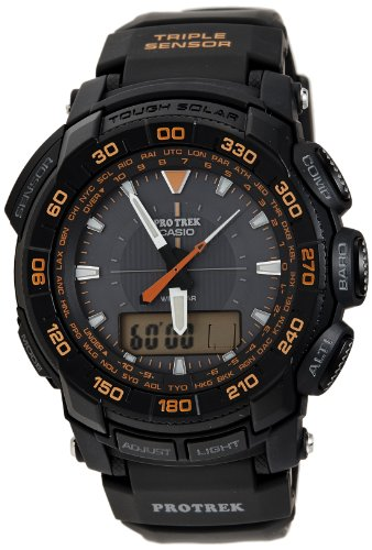 Casio Men's PRG550-1A4 Pro Trek Triple-Sensor Tough Solar Analog-Digital Sport Watch