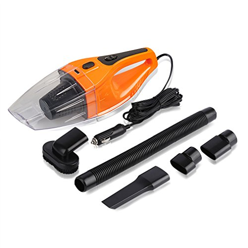 Car Vacuum Cleaner 120W, iTavah 12V 4000PA Suction Portable Handheld Wet Dry Auto Hand Vacuum (ORANGE),14.7FT(4.5M)Power Cord (Vacuum Cleaner Car Portable compare prices)