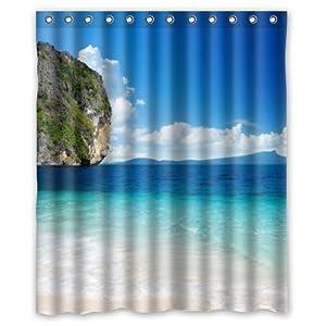 beach theme custom ocean waves california paradise custom polyester