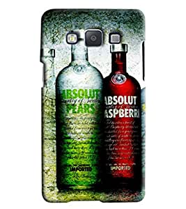 Blue Throat Absolut Different Flavours Printed Back Cover For Samsung Galaxy E7