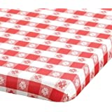 """Hoffmaster 221113 Kwik-Cover Plastic Banquet Tablecover, 72"""" Length x 30"""" Width, Red Gingham (Case of 25)"""