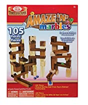 Ideal Amaze 'N' Marbles 105 Piece Classic Wood Construction Set