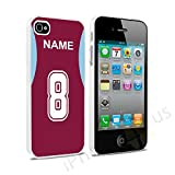 Burnley Colours Personalised Football Shirt, Any Name, Any Number Snap-on Hard Back Case Cover for Apple iPhone 4 4s By iPhone R Us®