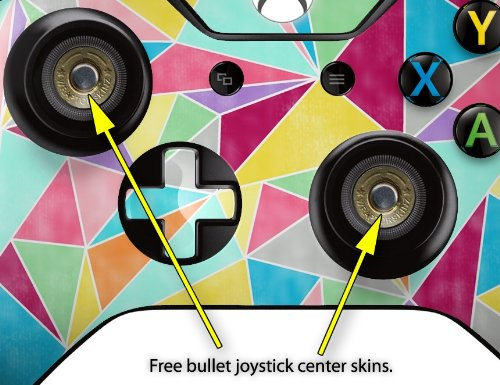 Brushed Geometric - Decal Style Skin fits Microsoft XBOX One Wireless Controller - CONTROLLER NOT INCLUDED skull and crossbones rainbow decal style skin fits microsoft xbox one wireless controller controller not included