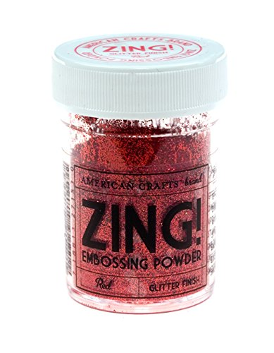 Zing glitter embossing powder 1 ounce red arts for American crafts zap embossing heat gun