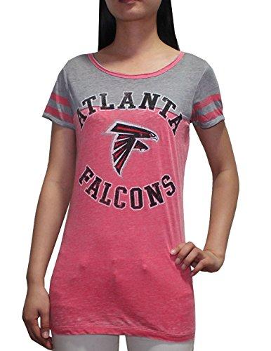 Nfl Atlanta Falcons Womens Crew-Neck Short Sleeve T Shirt (Vintage Look) L Red