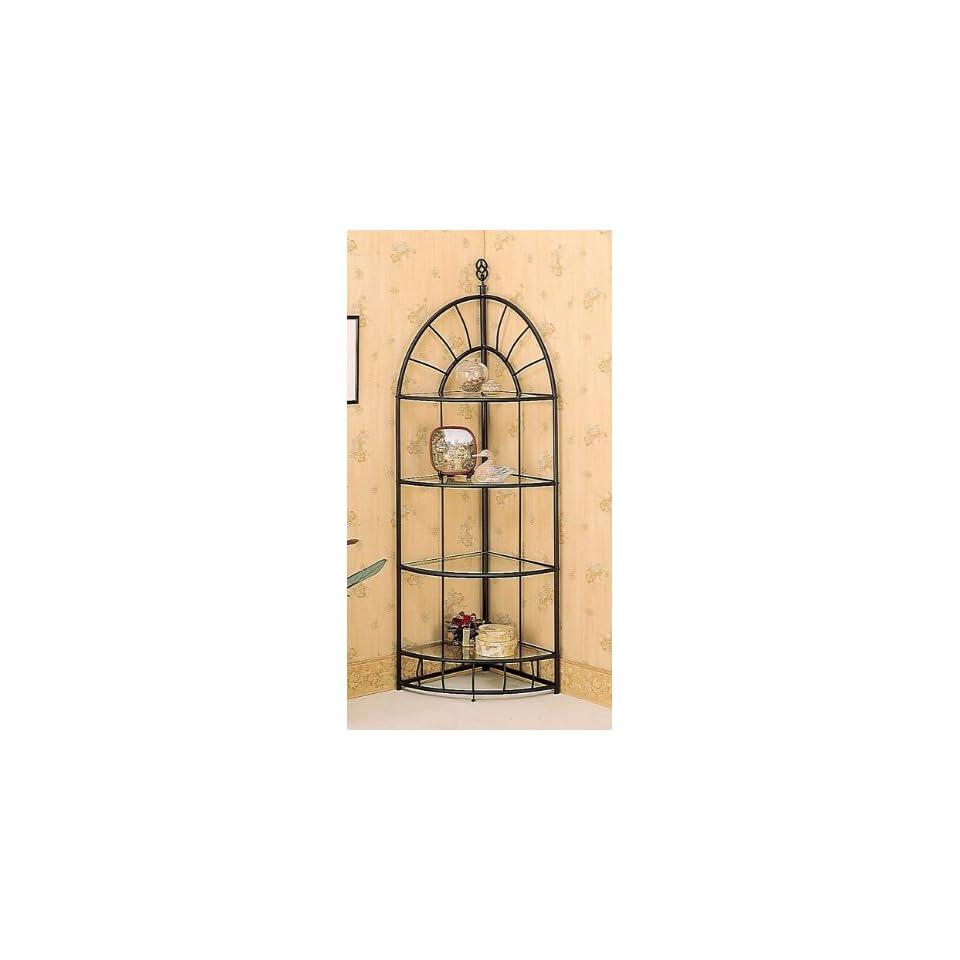amazoncom tuscan wrought iron metal corner wall shelves. Black Bedroom Furniture Sets. Home Design Ideas