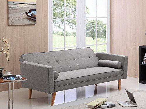 Deco confort canap clic clac banny gris clair canap et salons - Clic clac confort couchage quotidien ...