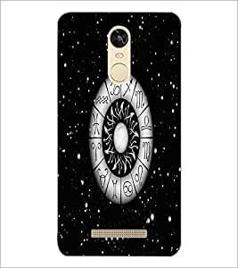 PrintDhaba Zodiac Wheel D-4812 Back Case Cover for XIAOMI REDMI NOTE 3 (Multi-Coloured)