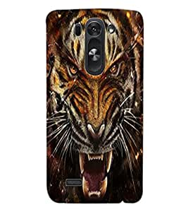 ColourCraft Roaring Tiger Design Back Case Cover for LG G3 BEAT