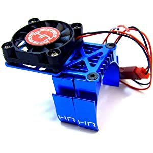Hot Racing Blue Multi Mount Fan Cool Heat Sink MH550TE06, Slash 2WD