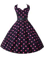 Yafex Pinup Polka Dot Vintage 1950s 1960s Rockabilly Swing Prom Dress