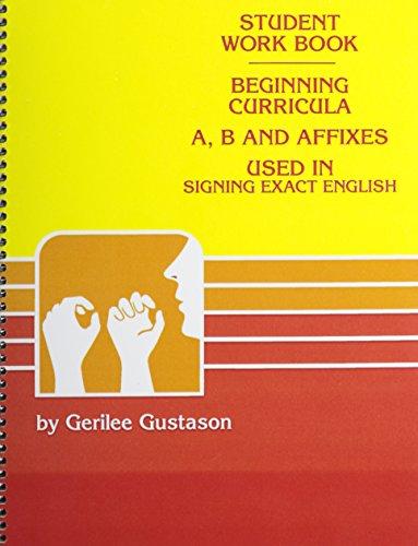 Student Workbook-Beginning Curricula A, B, and Affixes