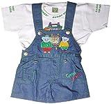 Rock Baby Boys' 18-24 Months Regular Fit Romper (SKY02, Green)
