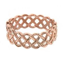 buy Fine 14K Rose Gold Celtic Knot Band Eternity Ring (Size 7.5)
