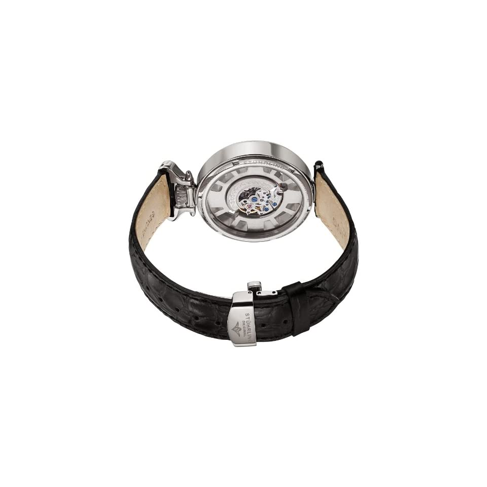 Stuhrling Original Mens 297.33152 Special Reserve Roman Emperor Automatic Skeleton Silver Tone Watch