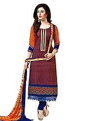 Salwar Studio Multicolor & Blue Dress Material with Dupatta Simran-3009