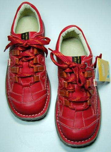 Damen Leder Schuhe Rot von TMA EYES Sport Schuh echt Leder Halbschuhe Gr. 36