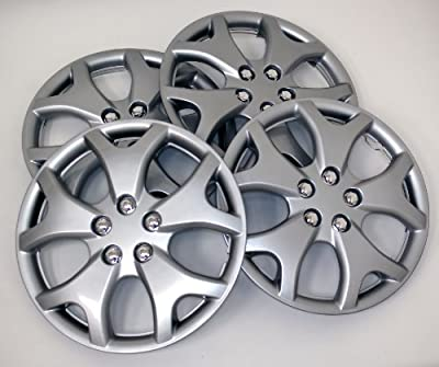 TuningPros WSC-618S14 Hubcaps Wheel Skin Cover 14-Inches Silver Set of 4