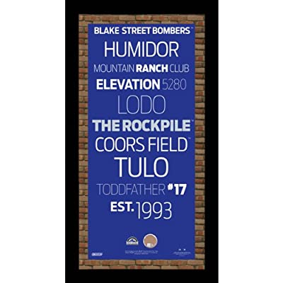 MLB Colorado Rockies Subway Sign Wall Art with Authentic Dirt from Coors Field, 9.5x19-Inch