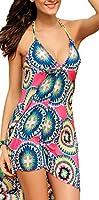 Luftiges Strandkleid Sommerkleid Neckholder aus Chiffon in sommerlichen Farben Größe S/M