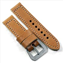 MP 1938 Produzione Originale Panerai Tan with a GPF-MOD flat buckle 24/24 125/80