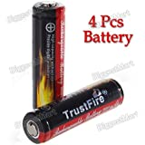TrustFire 4Pcs Protected 14500 3.7V 900mAh Rechargeable Lithium Batteries