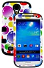 myLife (TM) Black - Colorful Bubble Pattern Design (3 Piece Hybrid) Hard and Soft Case for the Samsung Galaxy S4 Fits Models: I9500, I9505, SPH-L720, Galaxy S IV, SGH-I337, SCH-I545, SGH-M919, SCH-R970 and Galaxy S4 LTE-A Touch Phone (Fitted Front and Back Solid Cover Case + Internal Silicone Gel Rubberized Tough Armor Skin + Lifetime Warranty + Sealed Inside myLife Authorized Packaging) ADDITIONAL DETAILS: This three layer Galaxy S4 armor skin gel fit together case is made of grip easy smooth silicone and hardshell plates that slide in to your pocket easily yet won't slip out of your hand