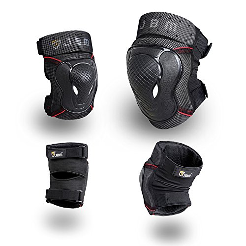 JBM-BMX-Bike-Knee-Pads-and-Elbow-Pads-with-Wrist-Guards-Protective-Gear-Set-for-Biking-Riding-Cycling-and-Multi-Sports-Safety-Protection-Scooter-Skateboard-Bicycle-Rollerblades