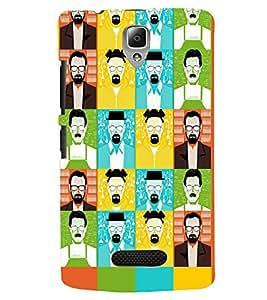 PRINTSWAG FACES Designer Back Cover Case for LENOVO A2010