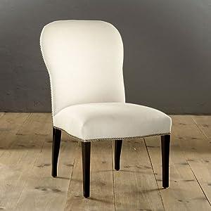 amazon com emberton side chair ballard designs constance metal side chairs set of 2