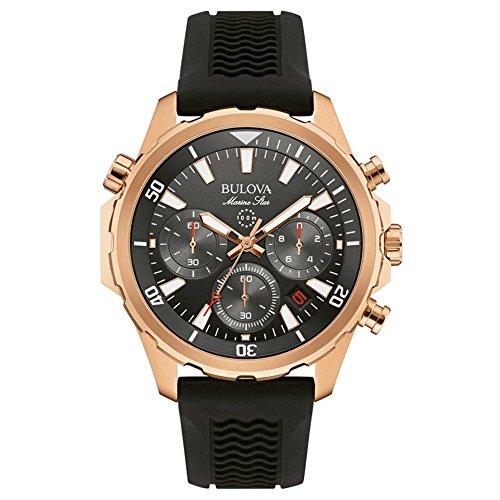 bulova-marine-star-mens-quartz-watch-with-grey-dial-chronograph-display-and-black-rubber-strap-97b15