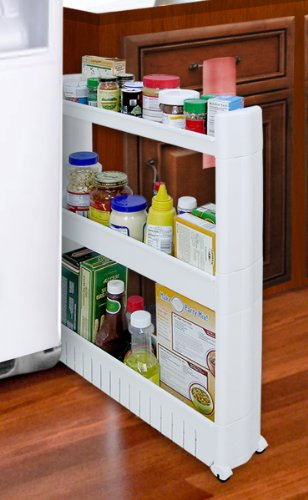SLIM SLIDE OUT STORAGE TOWER   IDEAL IN YOUR KITCHEN, BATH AND LAUNDRY ROOMS