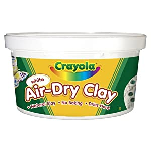 Crayola Air Dry Clay 2.5 Lb Bucket, White - Softens easily with water and quickly cleans from hands and surfaces